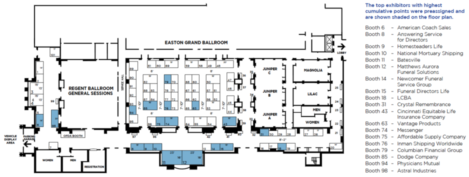 2020 Exhibit Floorplan Image
